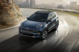 new Kia Sportage on the road