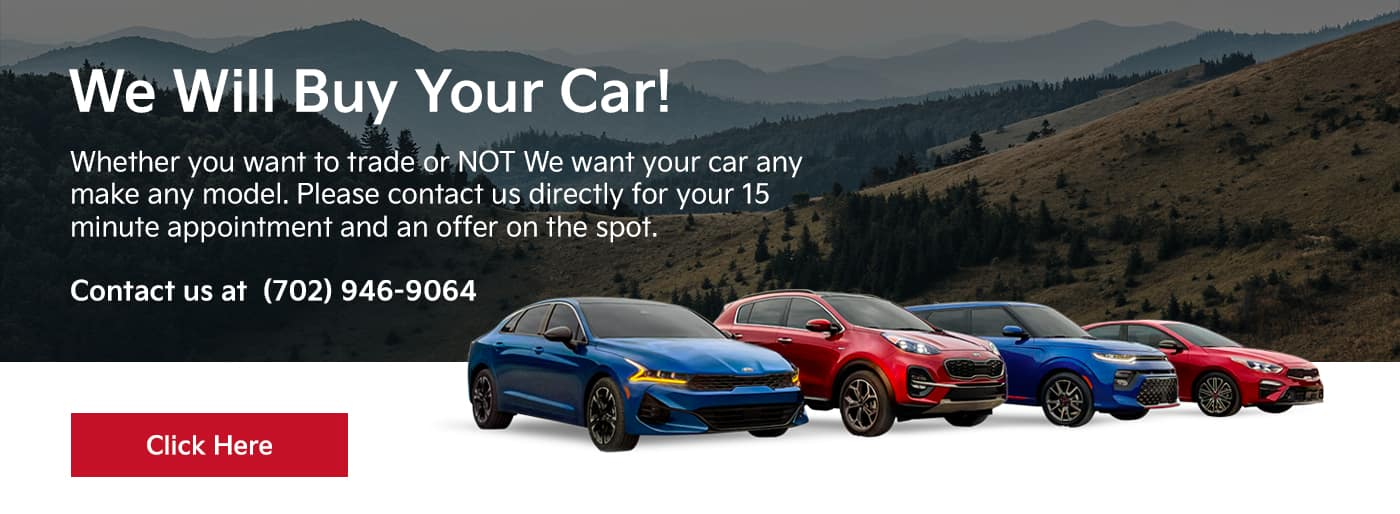 We will buy your car! Whether you want to trade or NOT