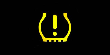 a low tire pressure dashboard light