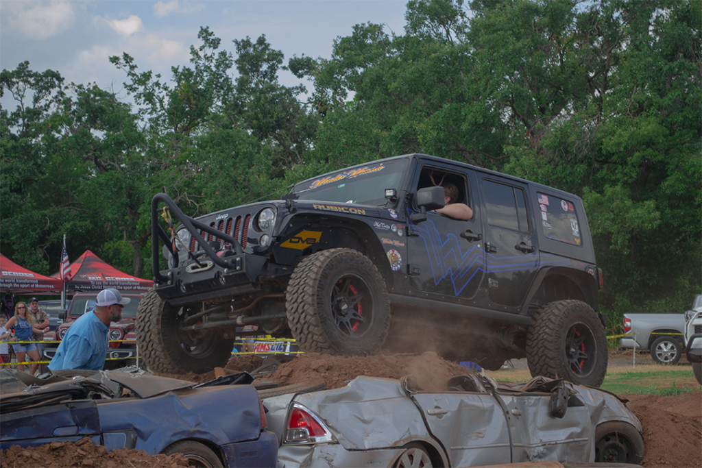 a new jeep wrangler in Edmond, Oklahoma on the course of Midwest Jeepfest 2021