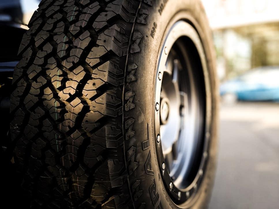 an all terrain tire at John Vance Chrysler Dodge Jeep Ram's tire shop