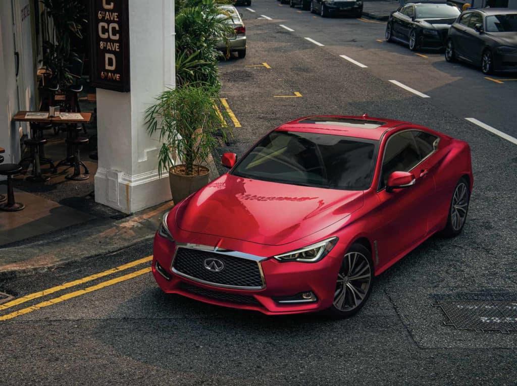 2021 red Q60 INFINITI exterior