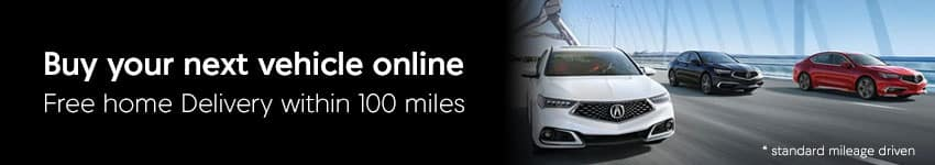 Free Vehicle Home Delivery within 100 miles of Acura Eugene