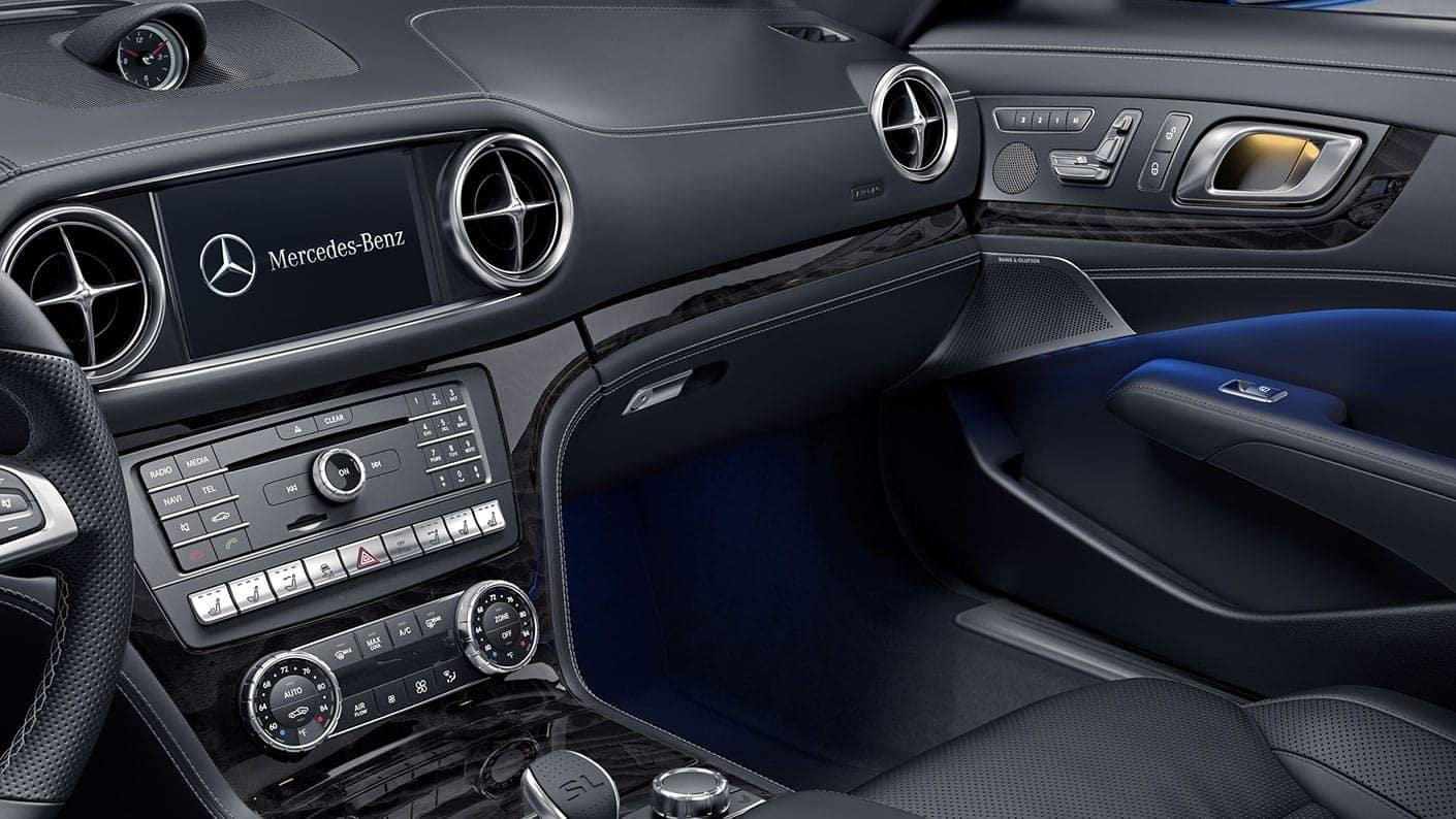 interior of a 2020 mercedes-benz sl roadster available now at Keyes European Mercedes-Benz of  Van Nuys