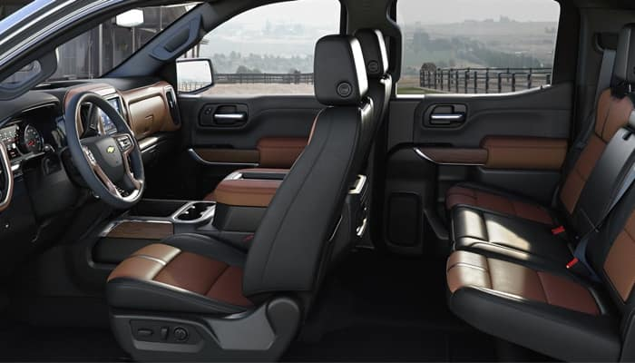 The 2019 Chevrolet Silverado 1500 has a spacious interior
