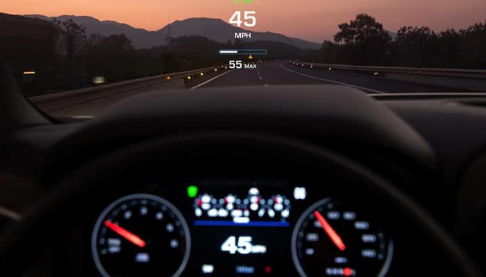 Keep your eyes on the road with the heads-up display inside the 2019 Chevrolet Silverado 1500