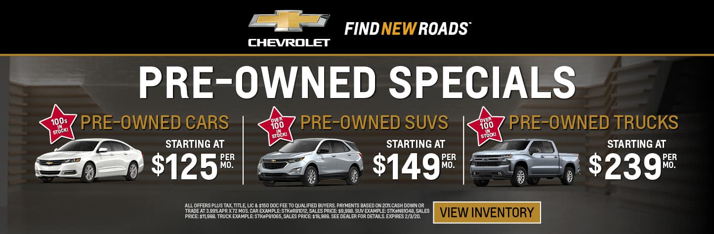 Pre-Owned Specials