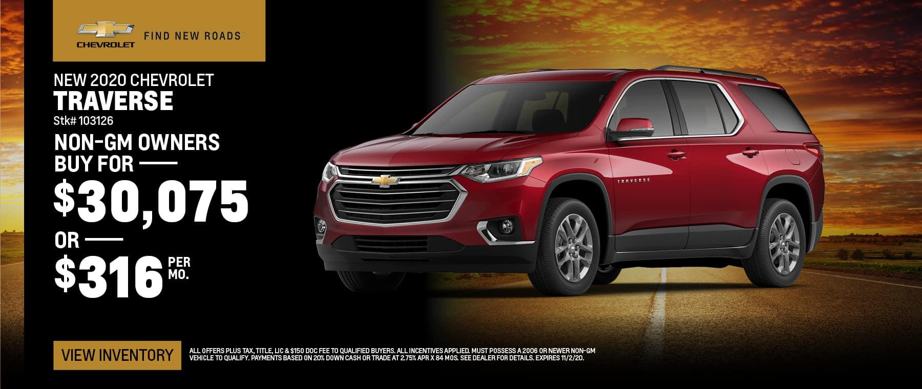 New 2020 Chevrolet Traverse