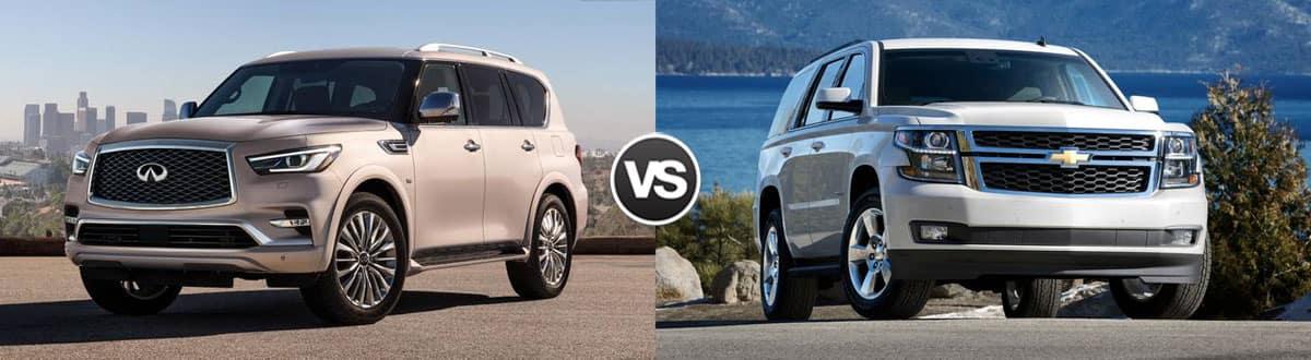 2019 INFINITI QX80 vs 2019 Chevrolet Tahoe