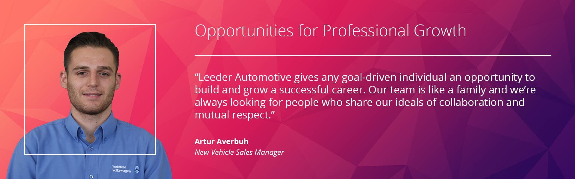 Artur testimonial desktop banner