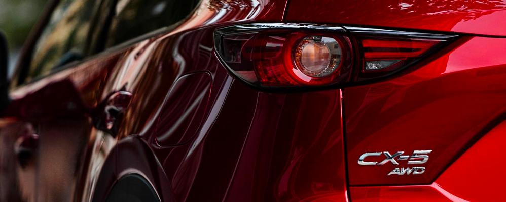 Close up Shot of Mazda CX-5 Rear Badge