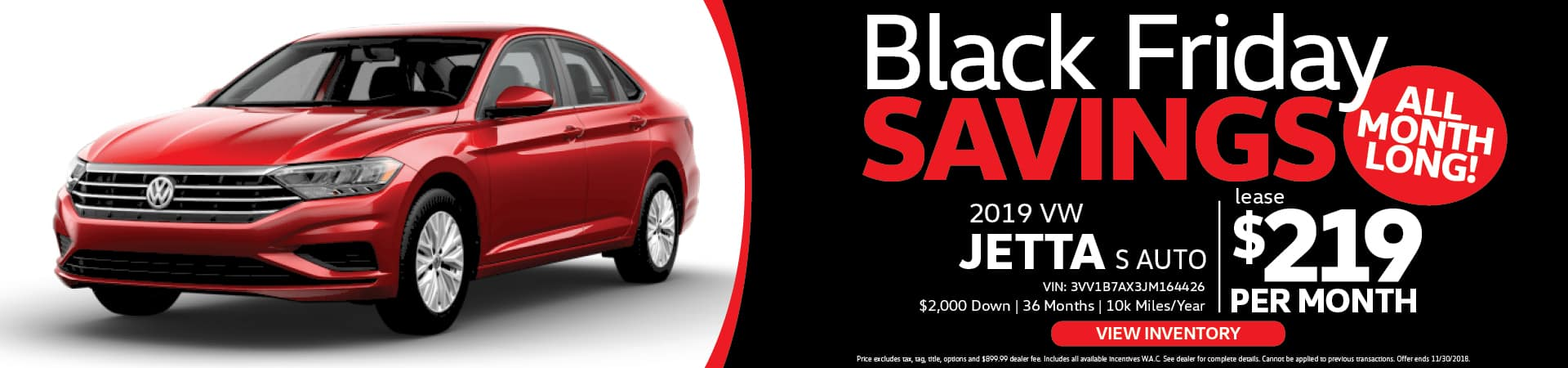 VW Jetta Black Friday Special