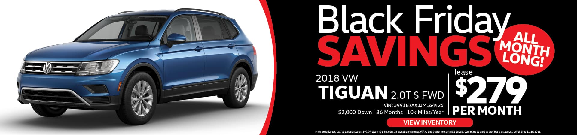 VW Tiguan Black Friday Special