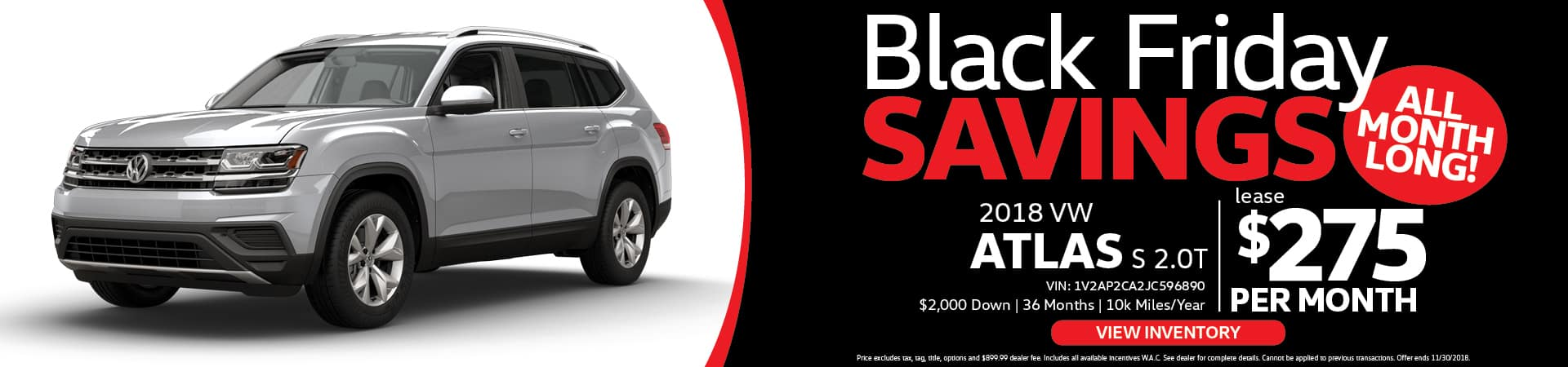 VW Atlas Black Friday