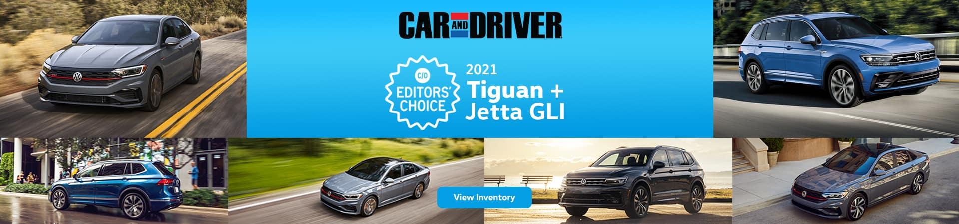 2021 Tiguan and Jetta GLI - Car and Driver Editors' Choice