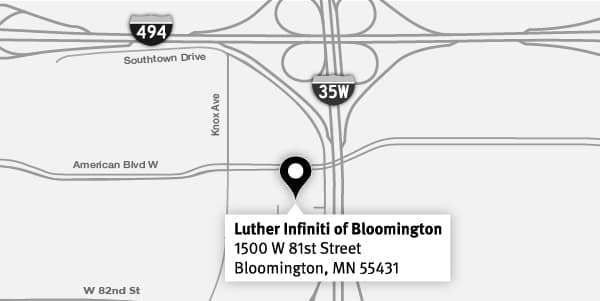 Detour Map - Bloomington INFINITI (1)
