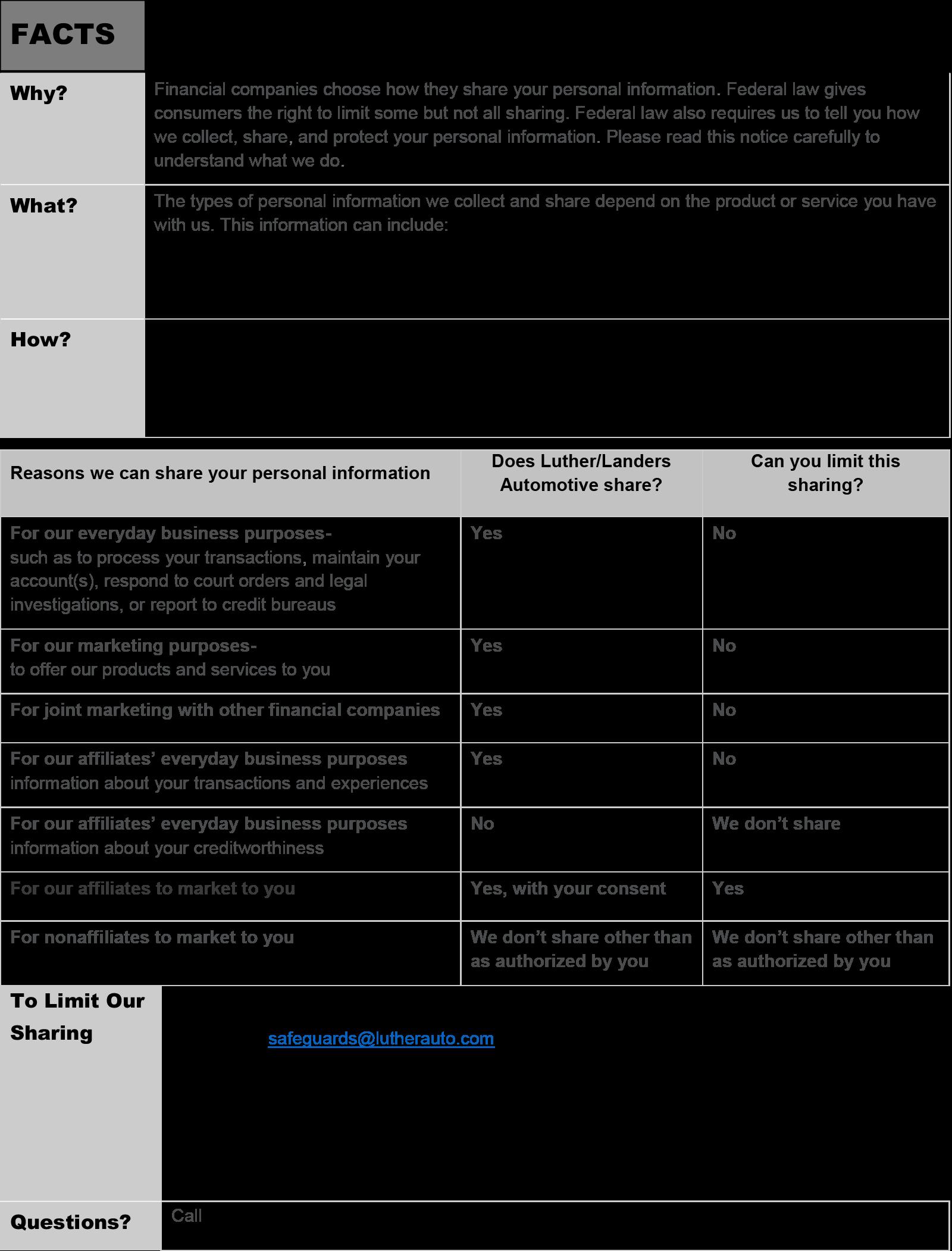 Luther Landers Automotive Financial Notice April 2020-Page-1