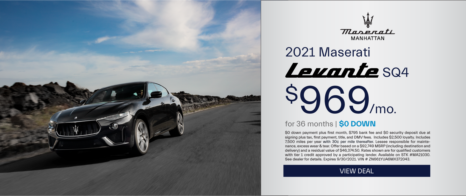 Maserati of Manhattan – 2021 Levante SQ4 – September 2021 – update2