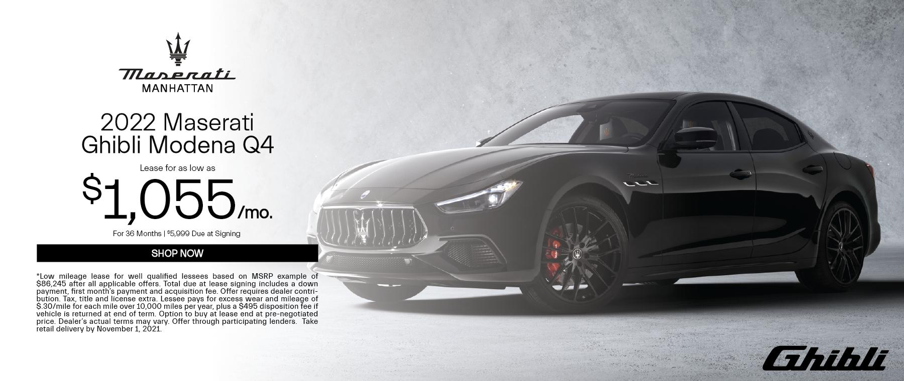 2022 Maserati Ghibli Modena Q4
