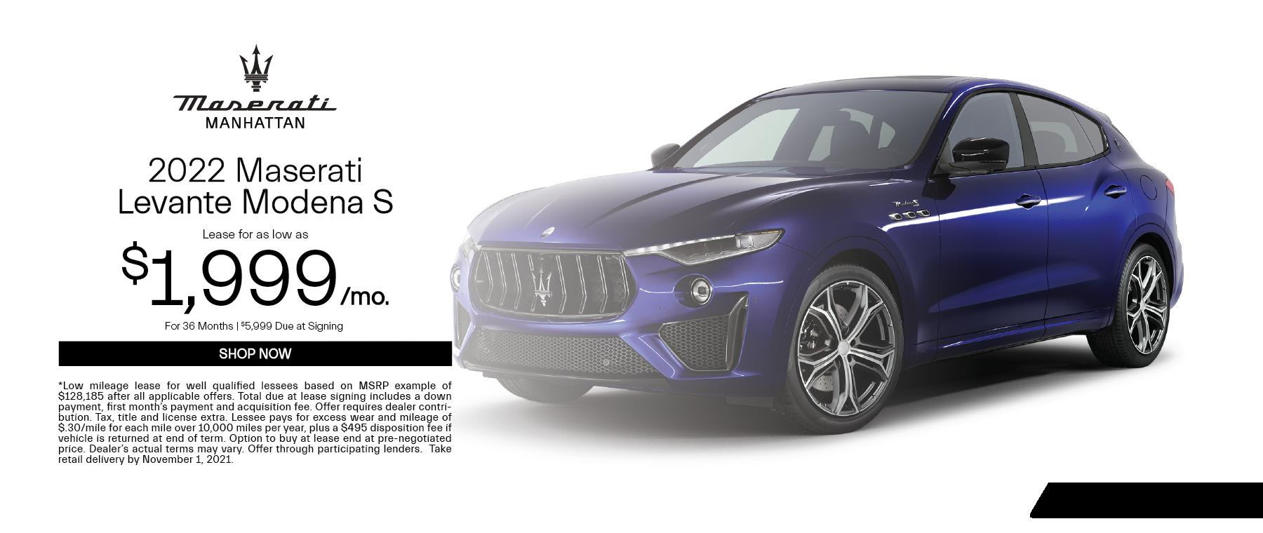 2022 Maserati Levante Modena S