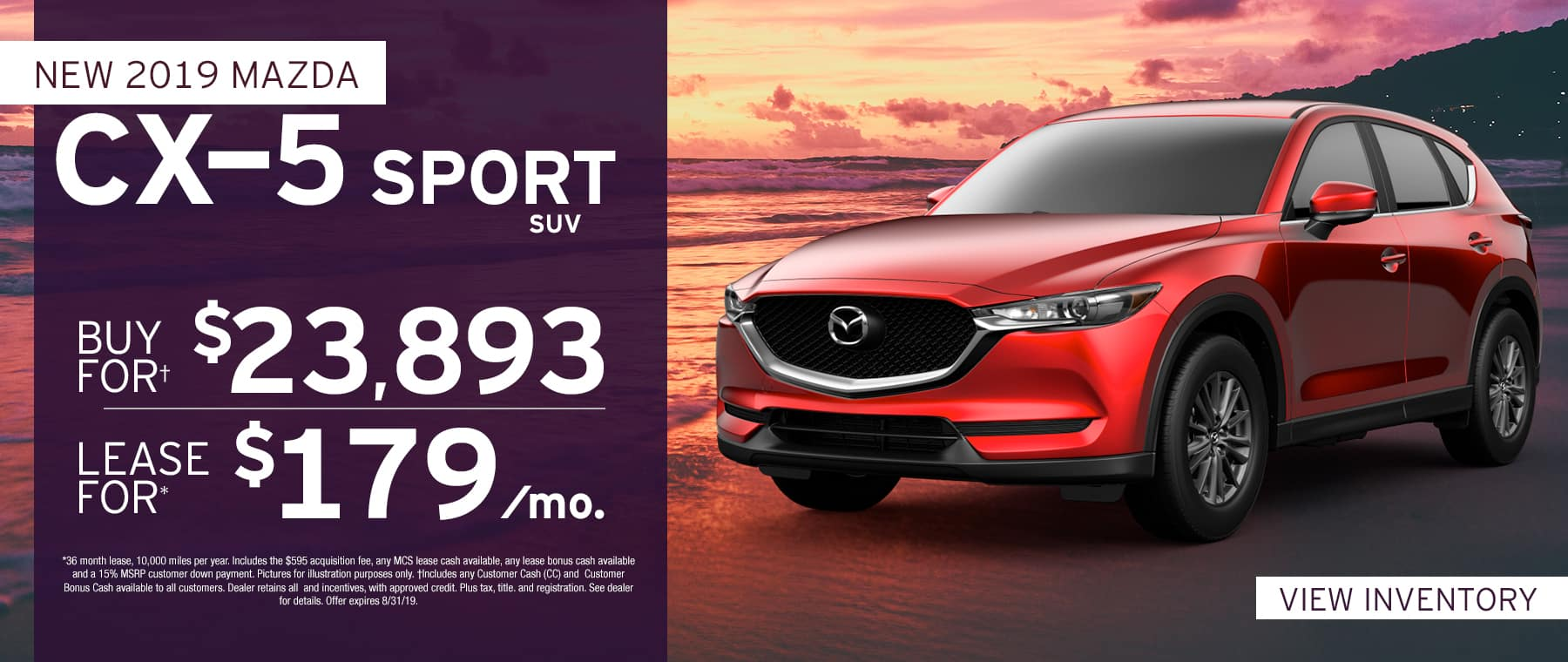 2019 Mazda CX-5$179 Per Month OR Buy For $23893