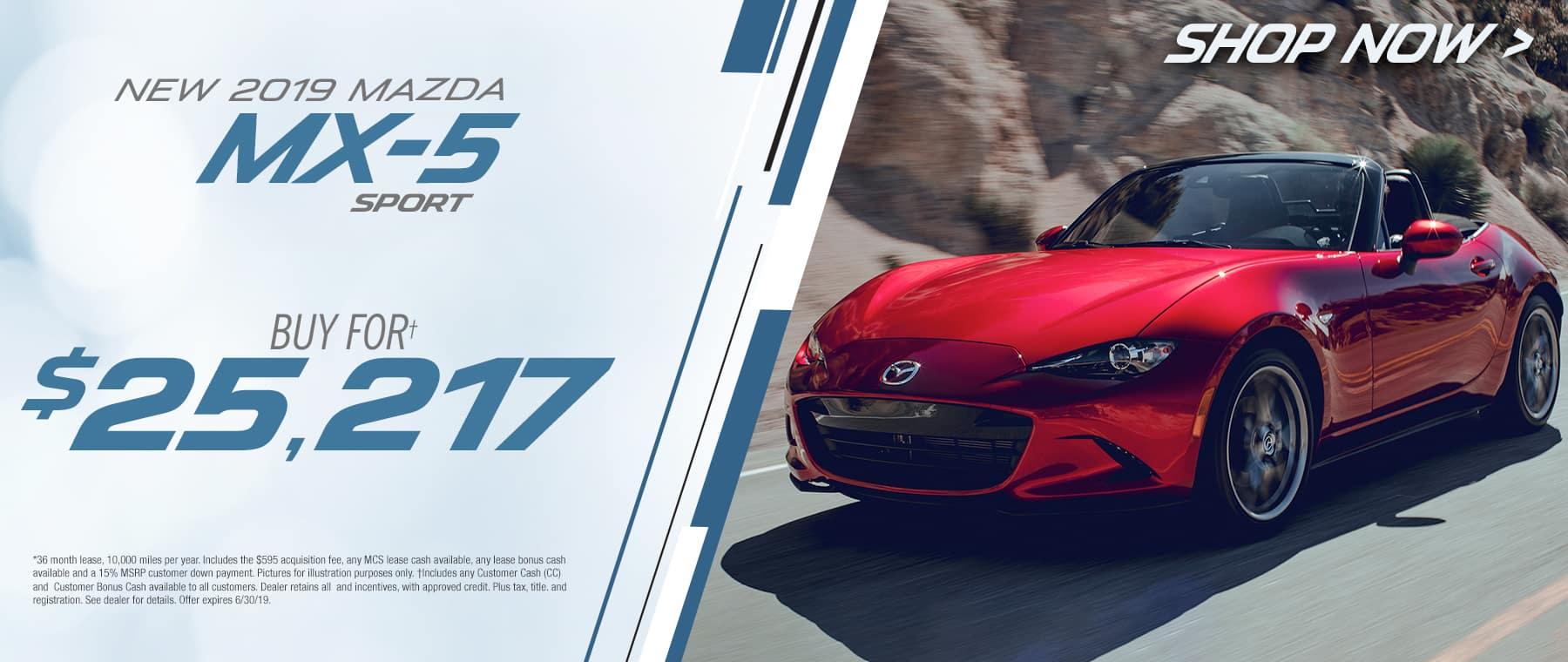 2019 Mazda MX-5Buy For $25217