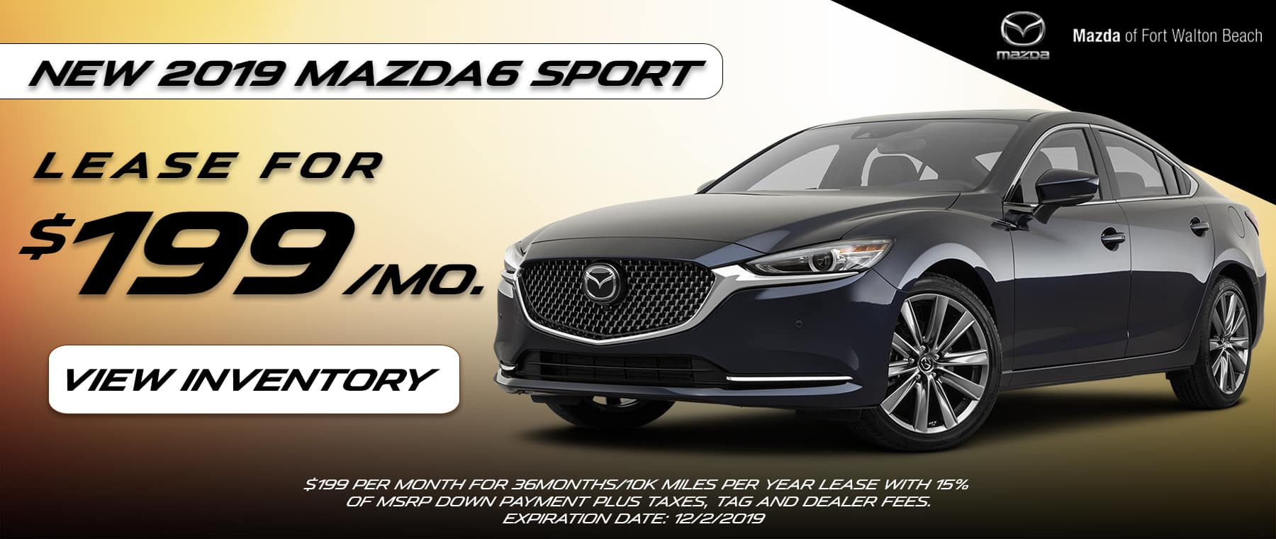 2019 Mazda6 Sport Lease Offer | Mazda of Fort Walton Beach