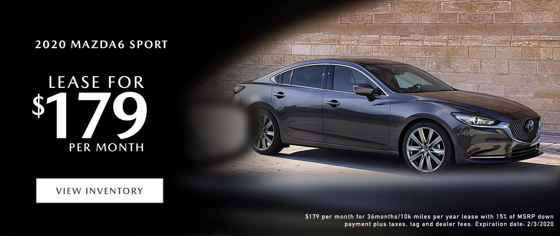 2020 Mazda6 Sport Lease Offer | Mazda of Fort Walton Beach
