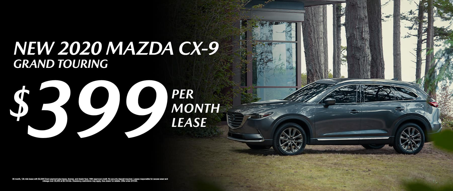New 2020 Mazda CX-9 Grand Touring Lease for $399/mo.