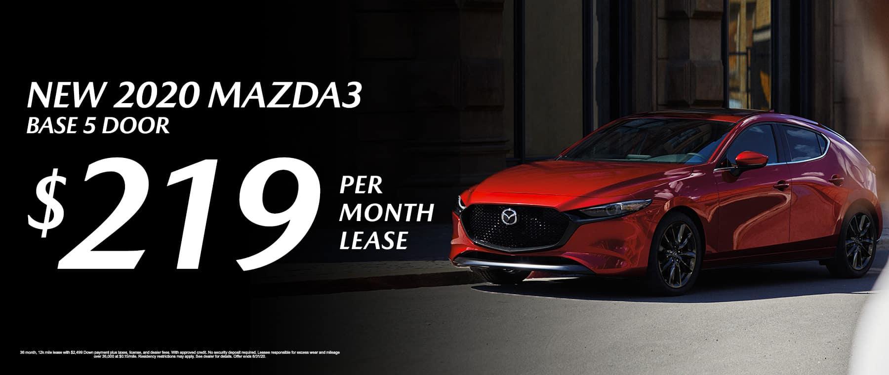 New 2020 Mazda3 Base 5 door