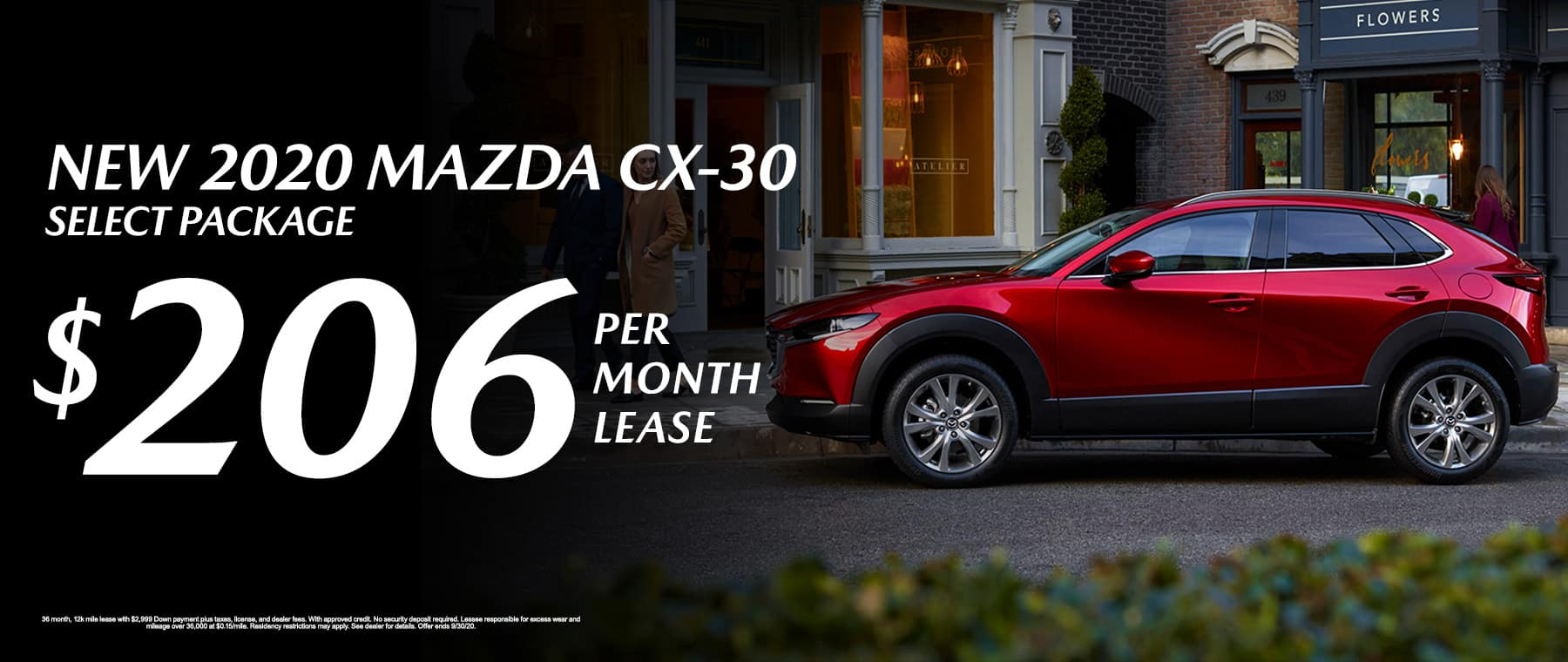 Lease a New 2020 Mazda CX-30 Select Package for $206 per month at Mazda of Fort Walton Beach!