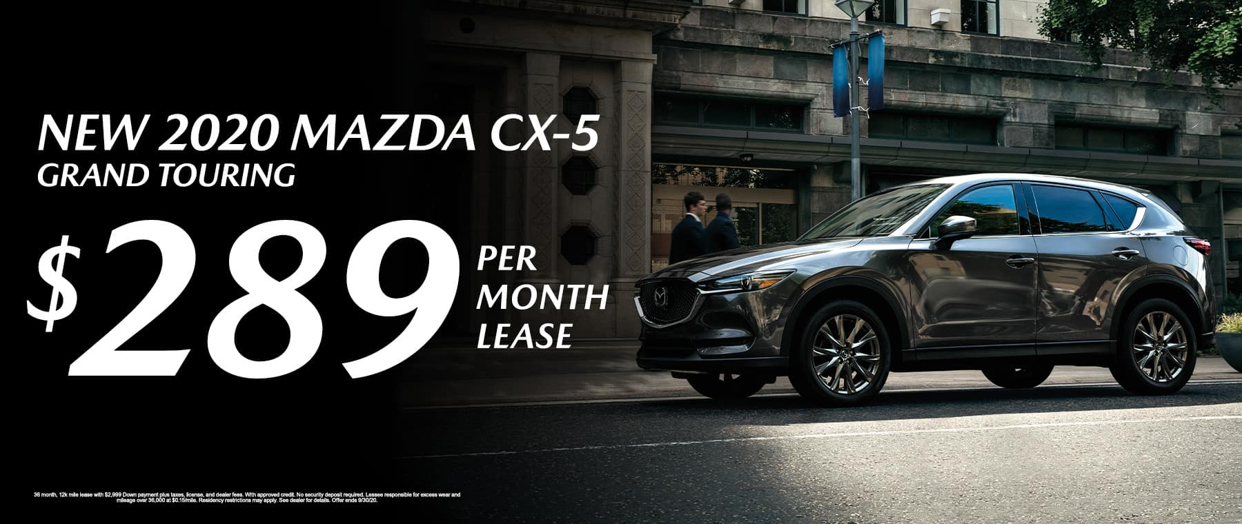 Lease a New 2020 Mazda CX-5 Grand Touring for $289 per month at Mazda of Fort Walton Beach!