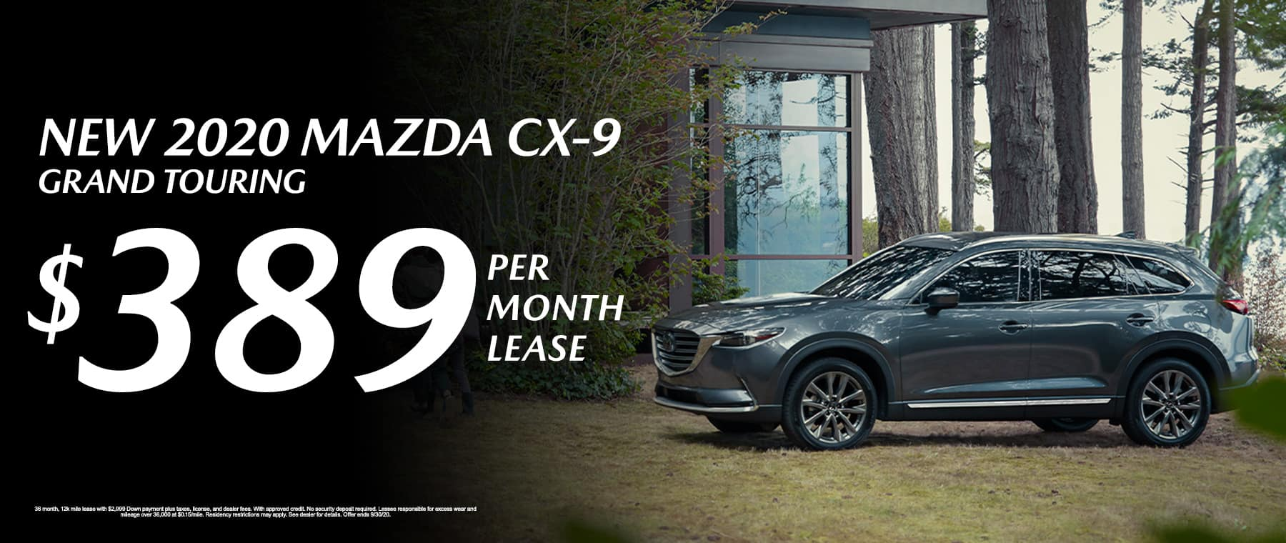 Lease a New 2020 Mazda CX-9 Grand Touring for $389 per month at Mazda of Fort Walton Beach!