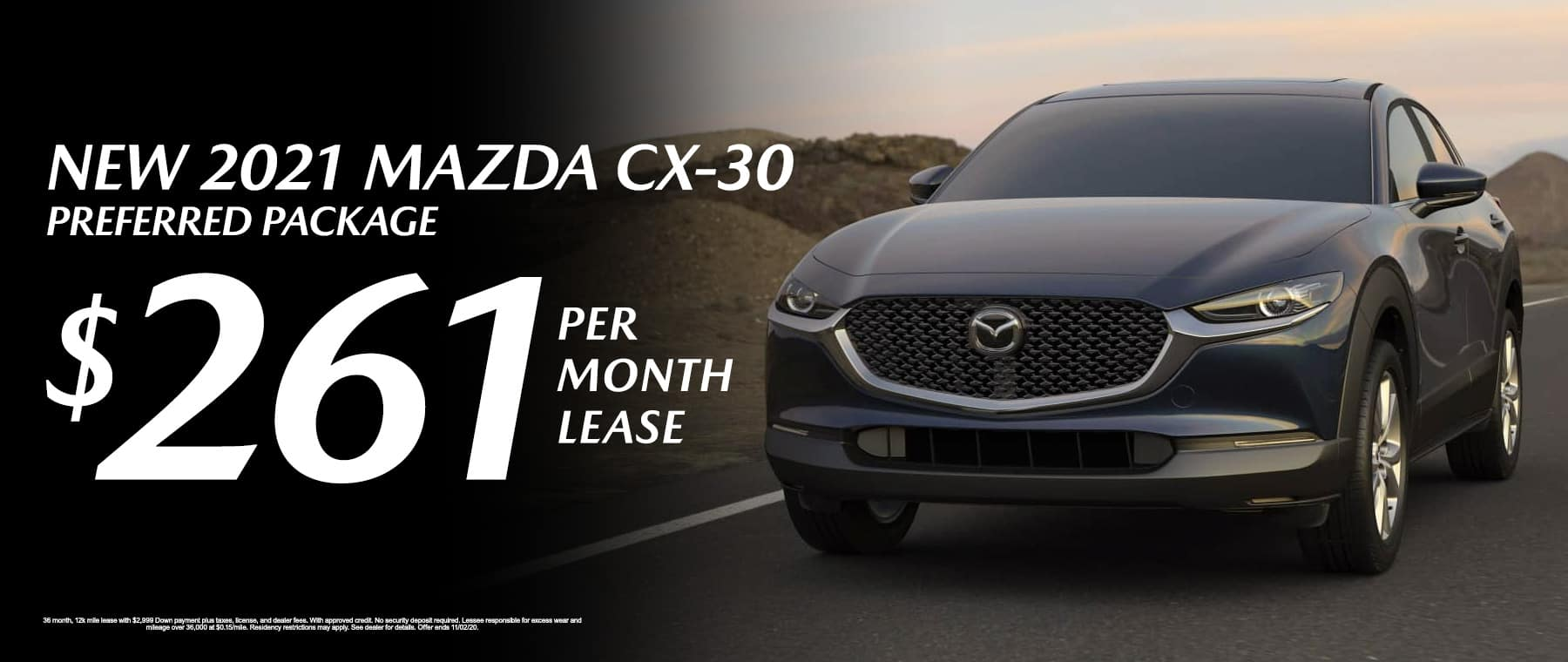 Lease a New 2021 Mazda CX-30 Preferred Package for $261/mo at Mazda of Fort Walton Beach