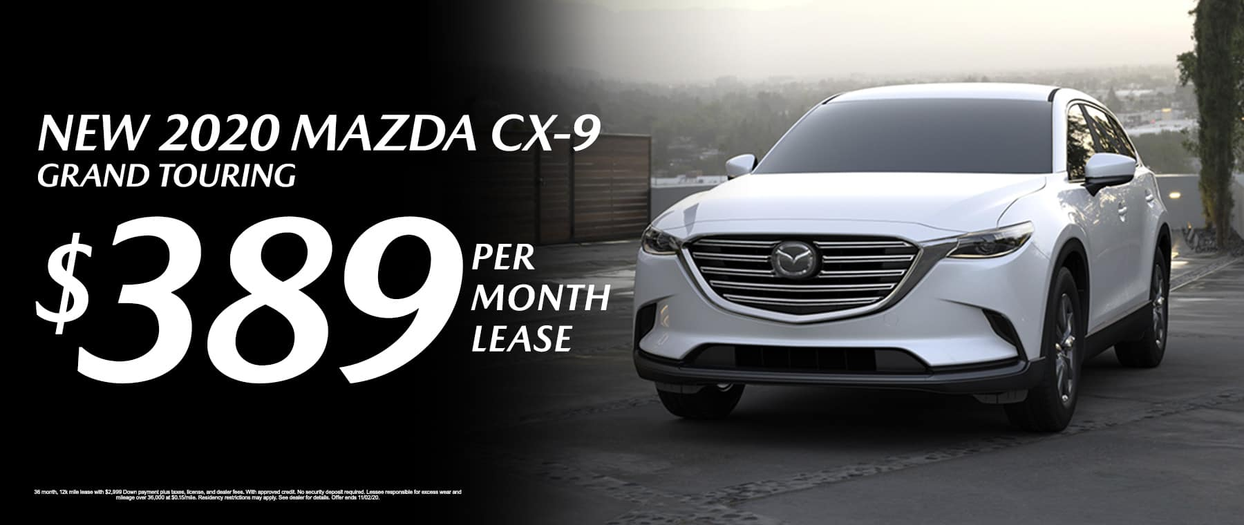 Lease a New 2020 Mazda CX-9 Grand Touring for $389/mo at Mazda of Fort Walton Beach