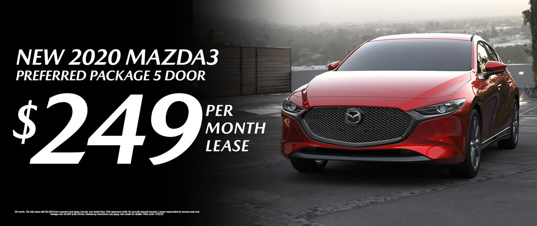 Lease a New 2020 Mazda3 Preferred Package 5 Door at Mazda of Fort Walton Beach