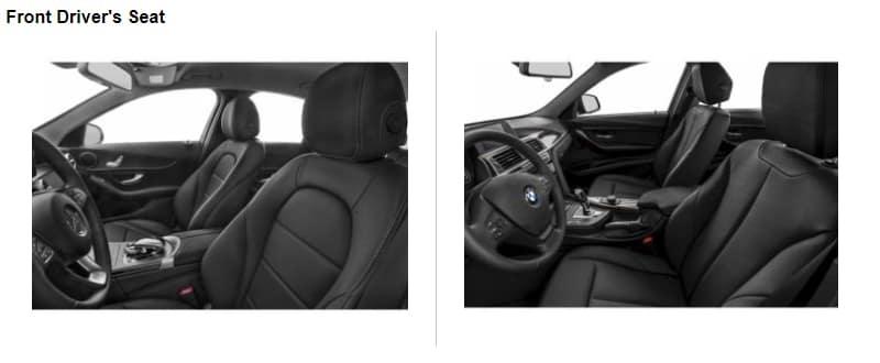 C-Class VS 3 Front Seat Comparison