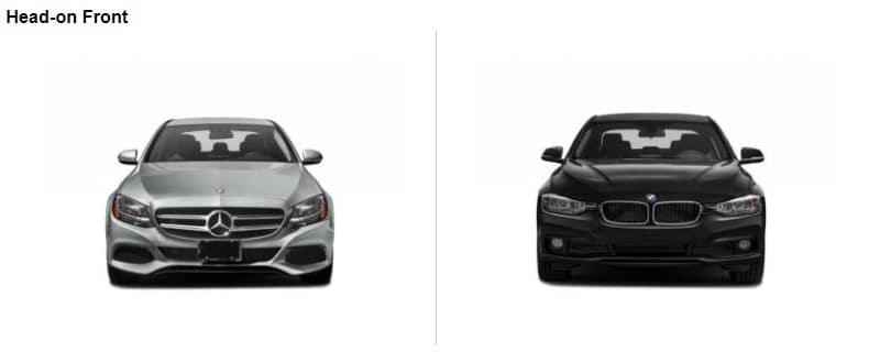 C-Class VS 3 Series Front End Comparison