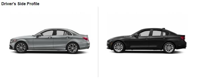 C-Class VS 3 Series Side Comparison