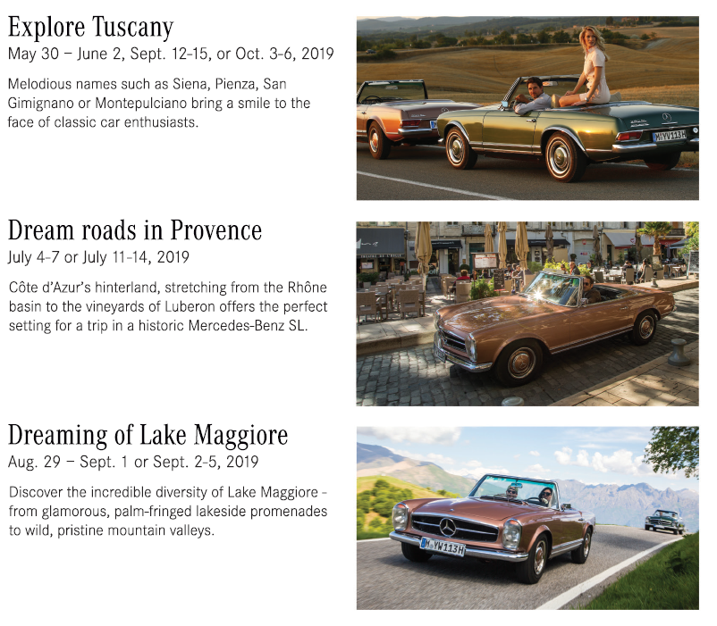 Classic Car Trip Options