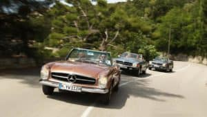 Take a unique trip in a classic Mercedes-Benz