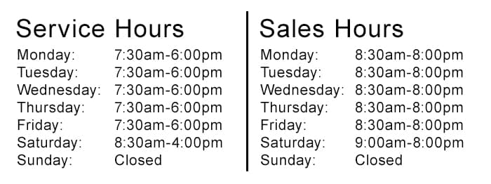 Service and Sales Hours