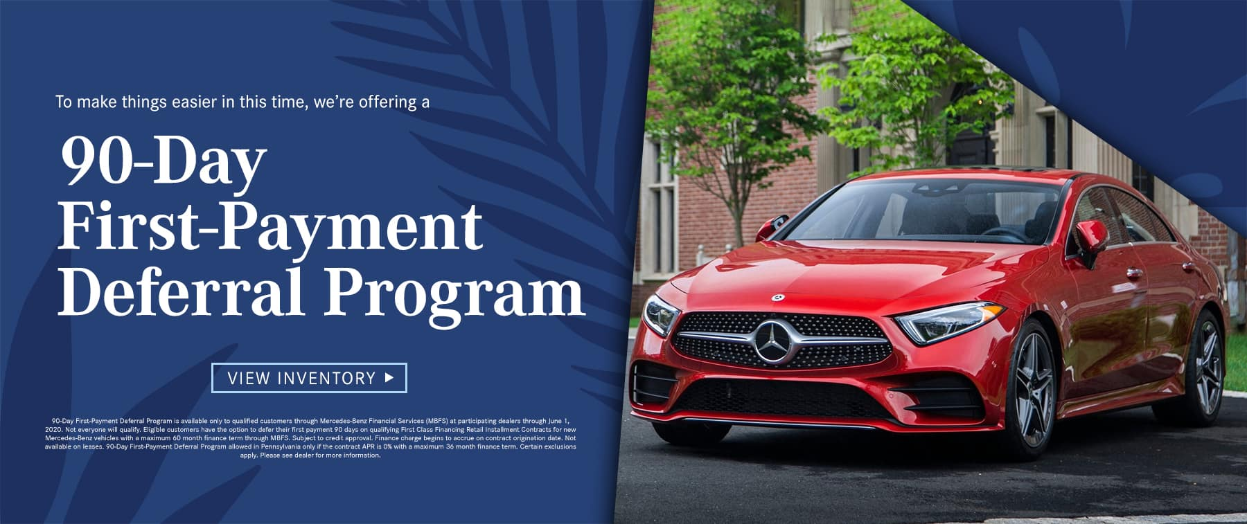 90-Day First-Payment Deferral Program