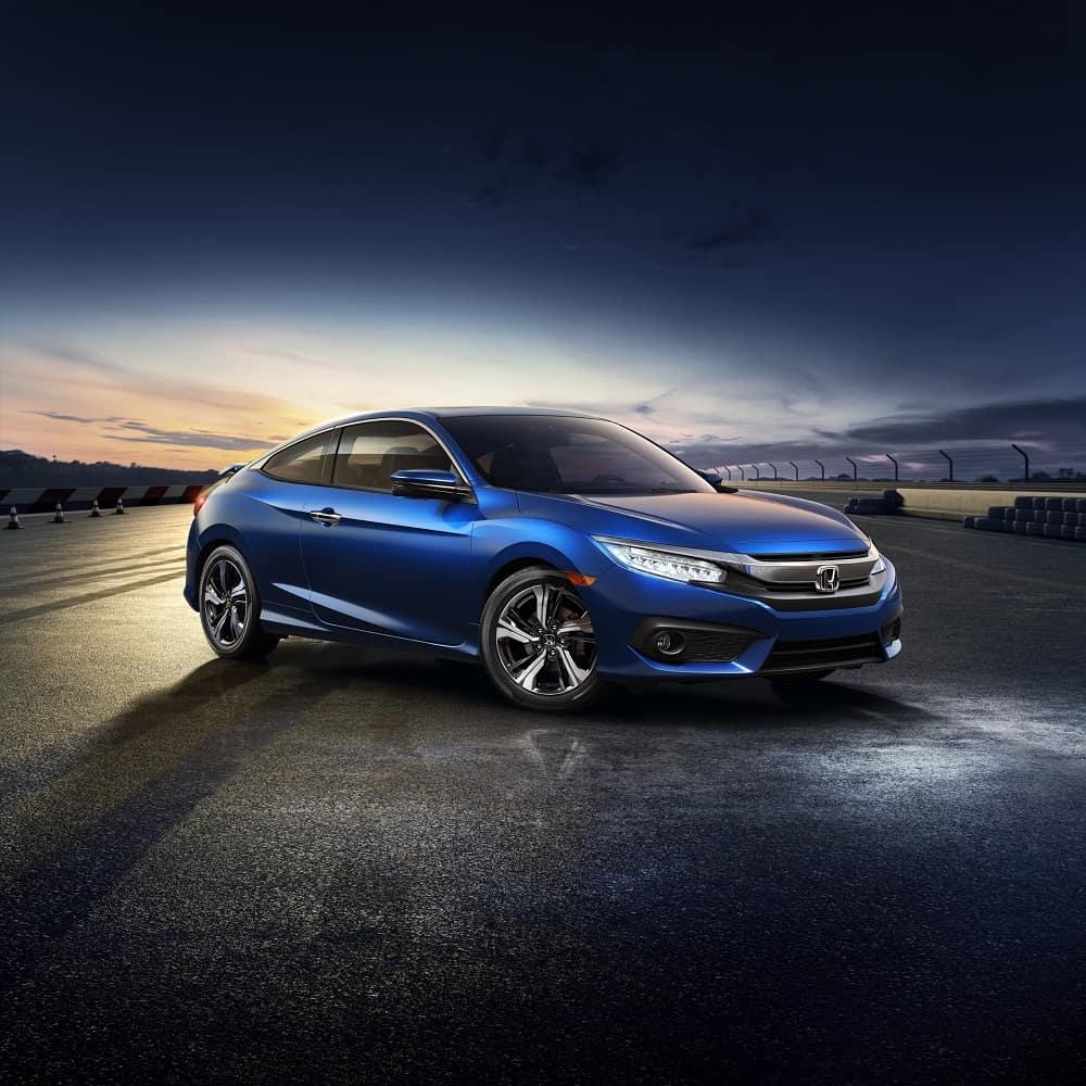 2018 Honda Civic Obsidian Blue Pearl