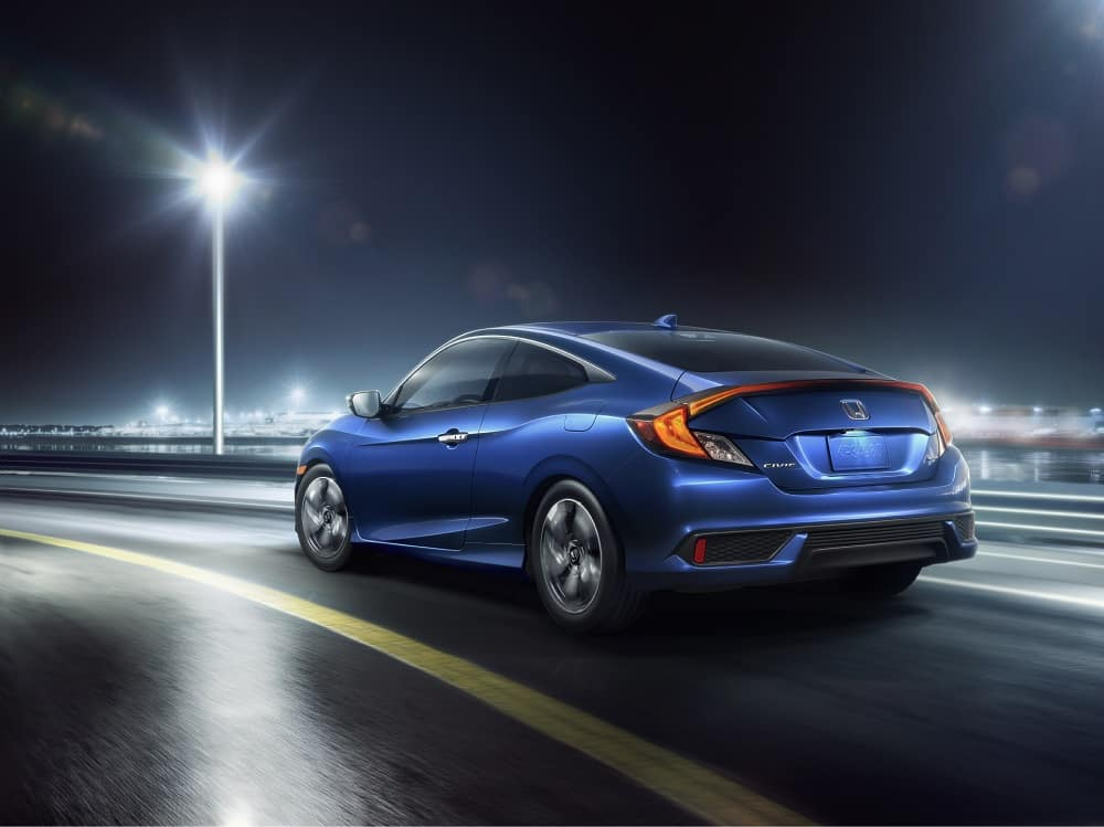 2018 Honda Civic Aegean Blue Metallic