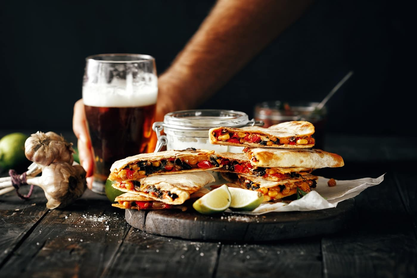Quesadillas and Beer