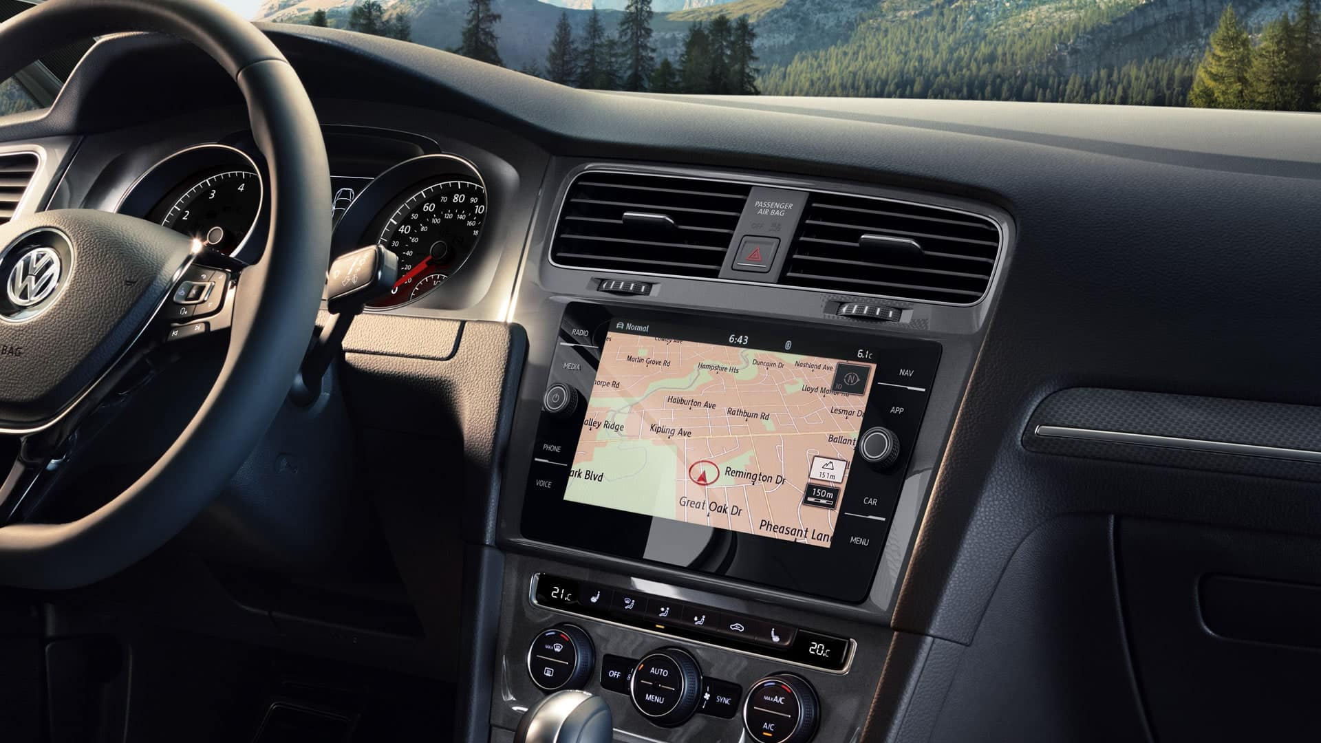 2019 VW Golf Alltrack discover media control
