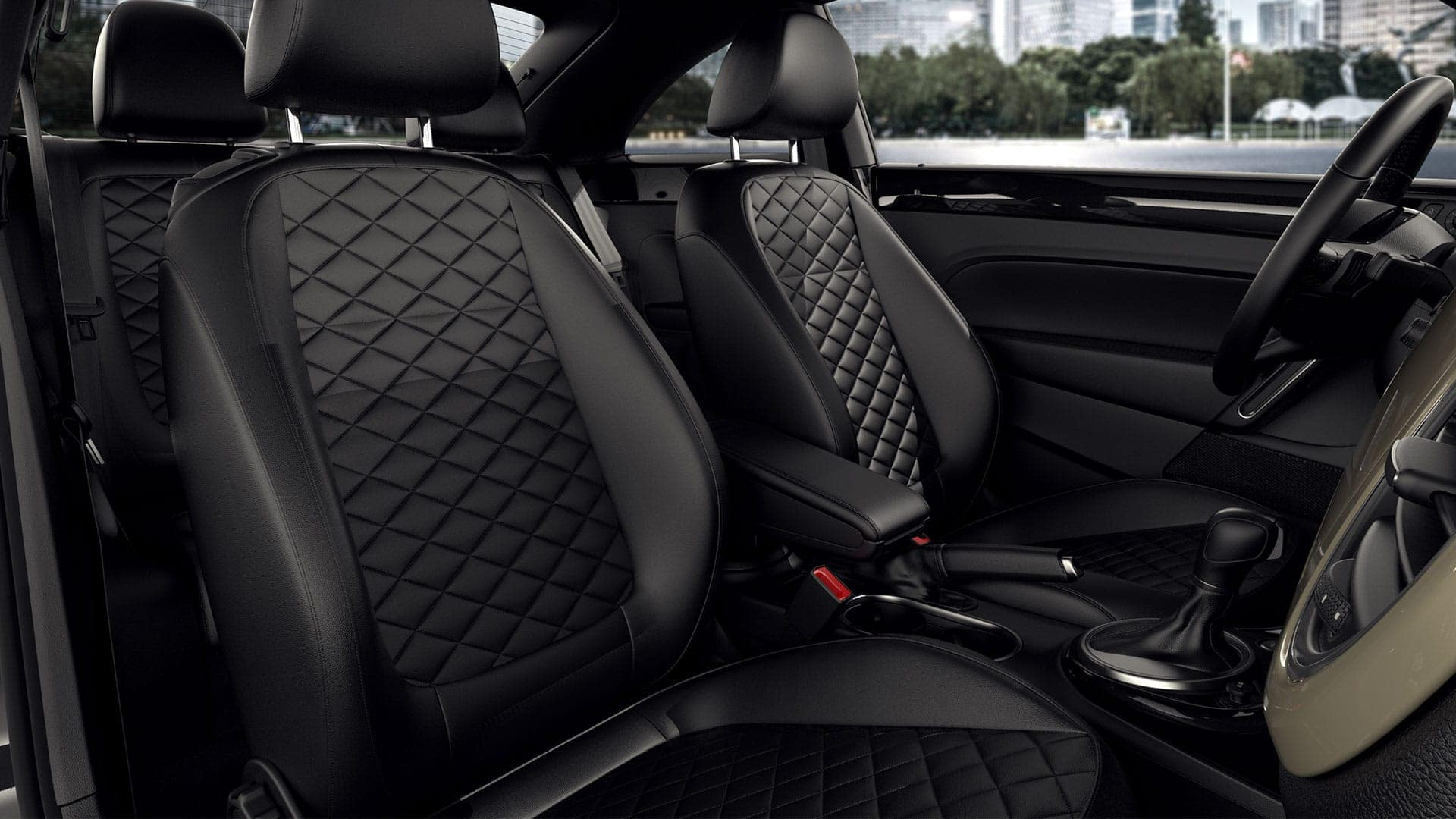 2019 VW Beetle diamond seats