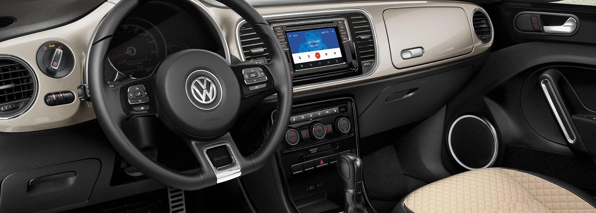 2019 VW Beetle interior