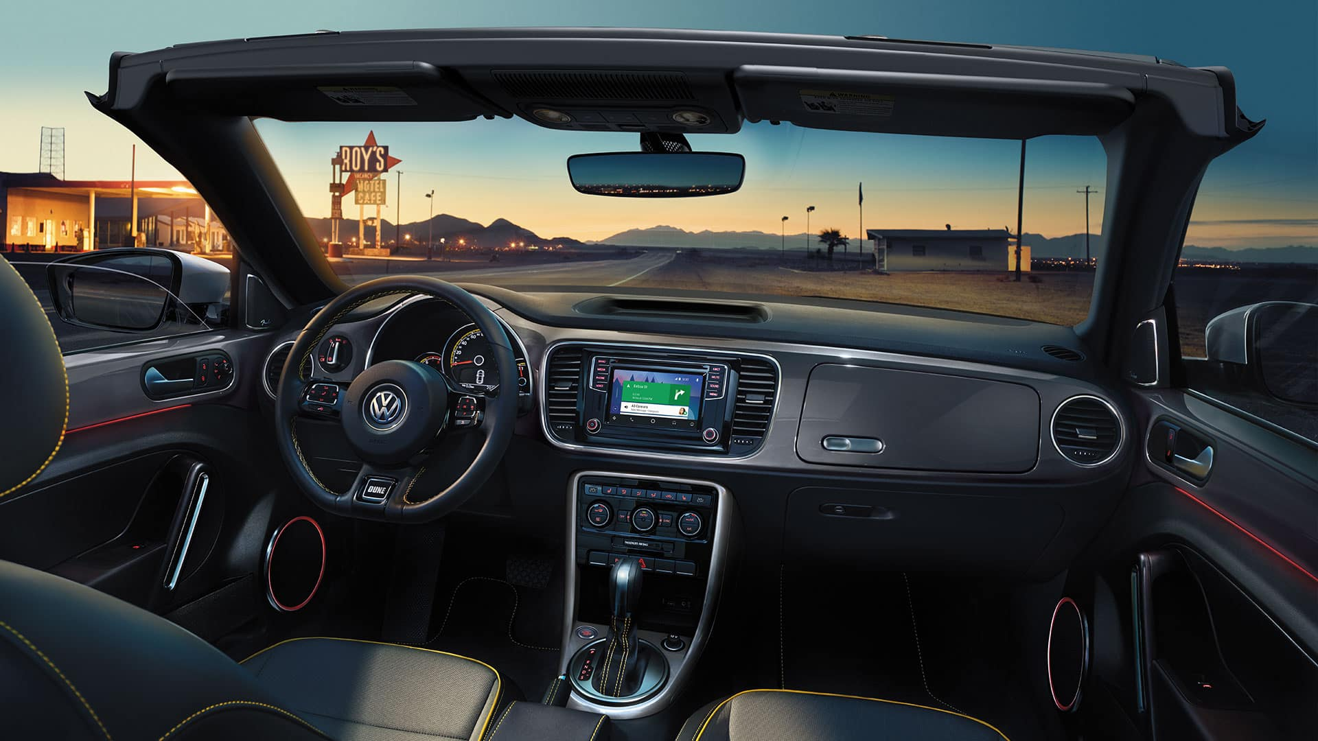 2019 VW Beetle Convertible Dune interior